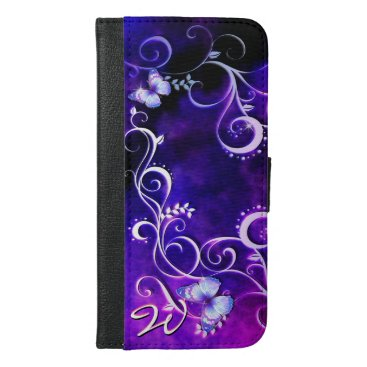 Butterfly Art 3 iPhone 6/6s Plus Wallet Case
