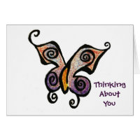 Butterfly Becky, Thinking About You Card