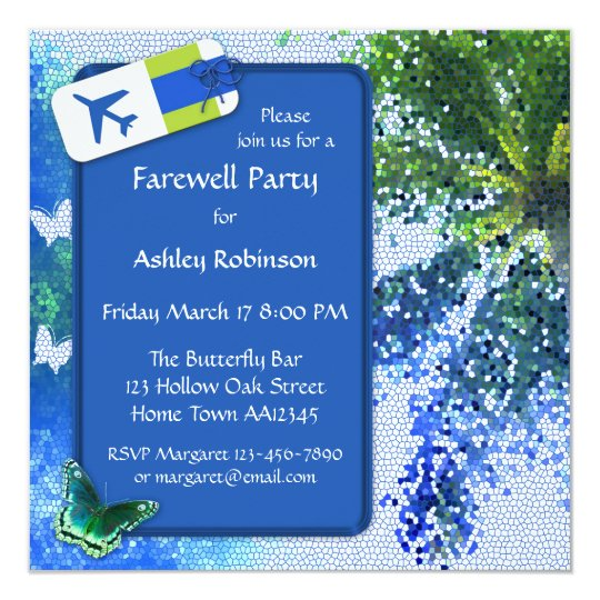 Butterfly Farewell Or Retirement Party Invitation Zazzle Com