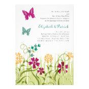 Butterfly Garden in Jewel Tones Personalized Invites