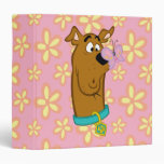 Butterfly On Scooby-Doo's Nose 3 Ring Binder
