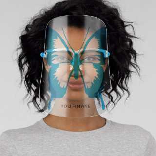Butterfly Personalized | Blue Face Shield