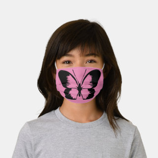 Butterfly | Pink Kids' Cloth Face Mask