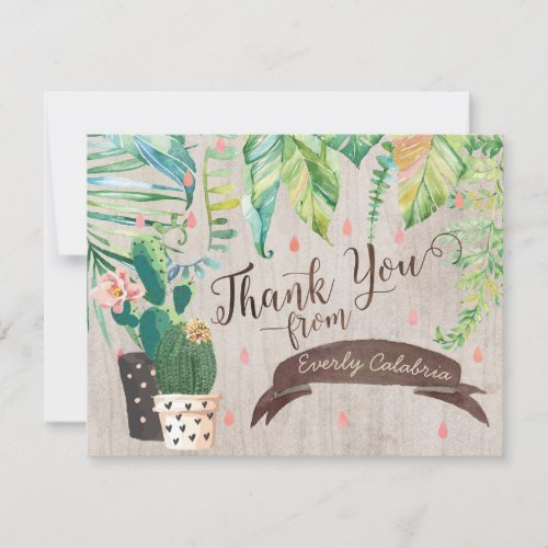 Cactus Desert Shower Thank You Cards
