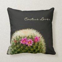 Cactus Flower Throw Pillow | Zazzle