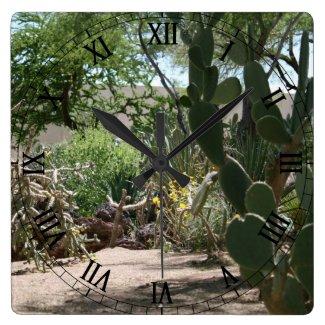 Cactus Garden Wallclock