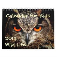 Calendar for Kids - 2014 - Wild Life