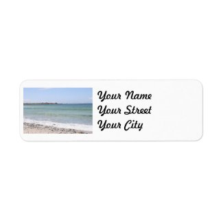 California Beach - Turquoise Pacific Ocean Waves Return Address Label