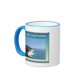 California Big Sur Ocean View II Coffee Mugs