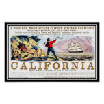 California Clipper gold rush Vintage Print