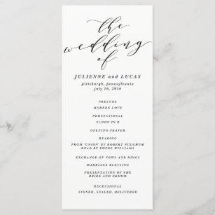 calligraphy wedding ceremony progam