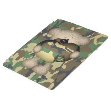 Camo Heart Military Teddy Bear iPad Smart Cover