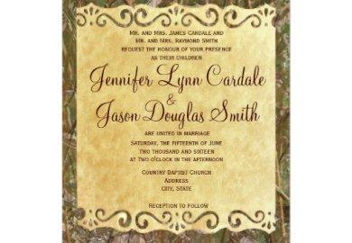 Camo Wedding Invitations Templates Wedding Invitations