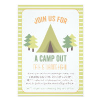 Camp Out. Birthday Invitation
