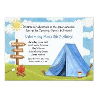 Camping Birthday Party Invitation