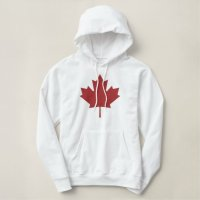 Canadian Maple Leaf Customized Embroidered Hoodie   Zazzle.com