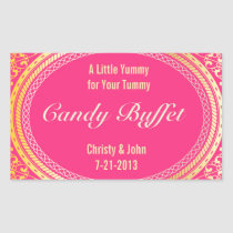 Candy Buffet Stickers in Gold and Pink Ivory