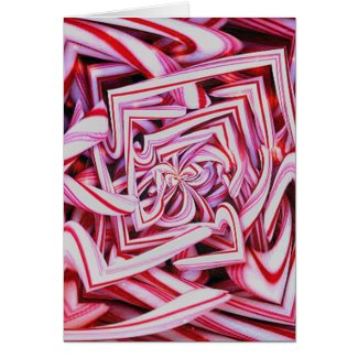 Candy Cane Holiday Greeting Cards