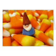 Candy Corn Gnome Greeting Card