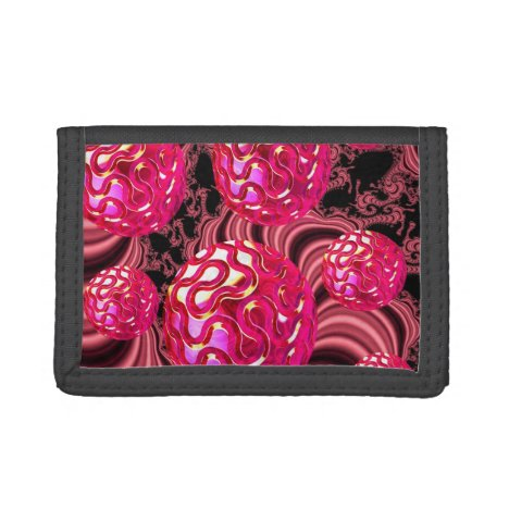 Candy Explosion, Abstract Rose Jewel Candy Tri-fold Wallet