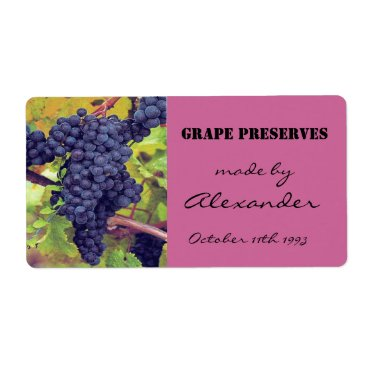 Canning Preserves Grapes Label