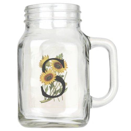 Cape Daisy Monogram S Mason Jar