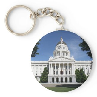 Capitol in Sacramento Key Chains