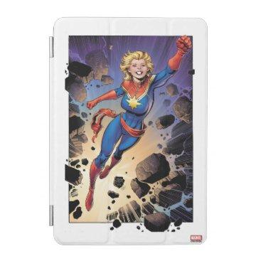 Captain Marvel Breaking Through Wall iPad Mini Cover