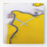 Car Peeling Paint Art Square Wall Clock