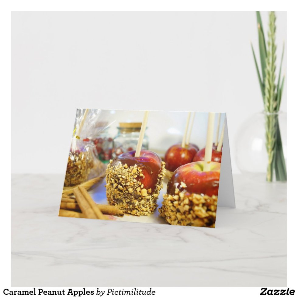 Caramel Peanut Apples Card