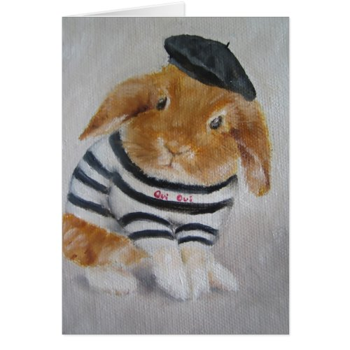 Card/Animal - Baby Rabbit Card