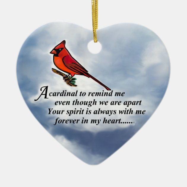 Cardinal Memorial Poem Ceramic Ornament Zazzle