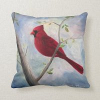 Cardinal Throw Pillow | Zazzle