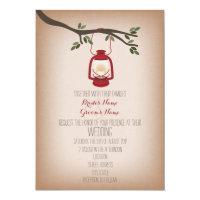 Cardstock Inspired Camping Lantern Wedding Card