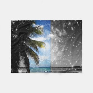 Caribbean Dreaming Fleece Blanket