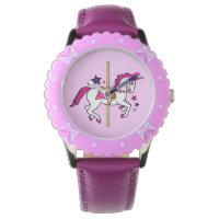 Carousel Unicorn Wrist Watch