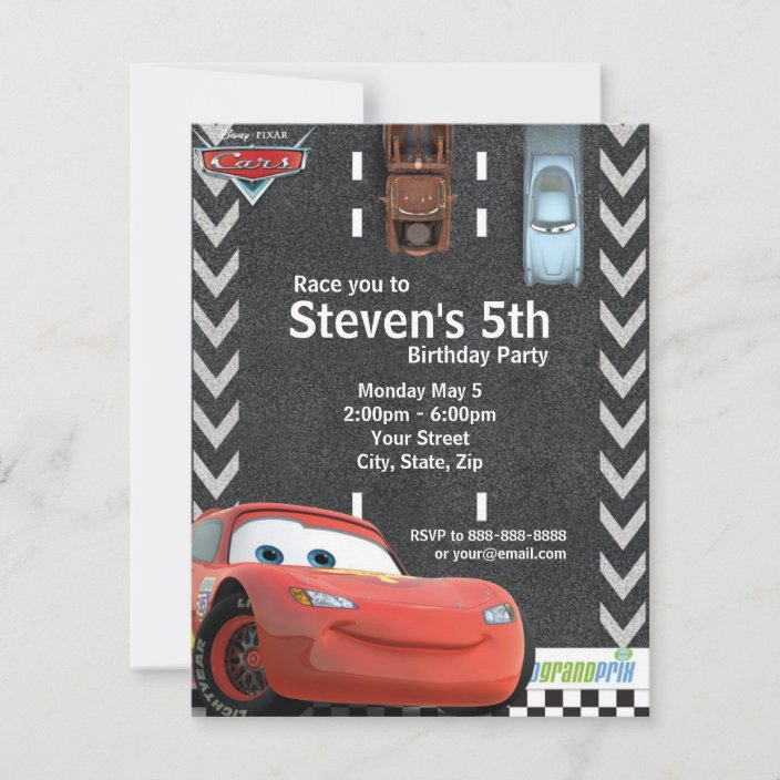 cars birthday invitation zazzle com