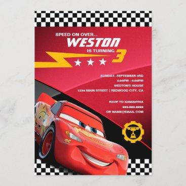 Cars Lightning McQueen | Birthday Invitation