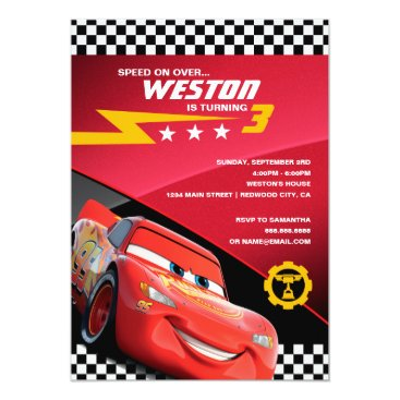 Cars Lightning McQueen | Birthday Invitation