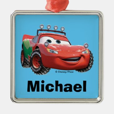 Cars   Lightning McQueen Looking Good Metal Ornament