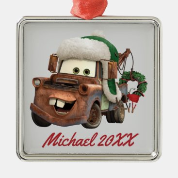 Cars | Mater In Winter Gear Metal Ornament