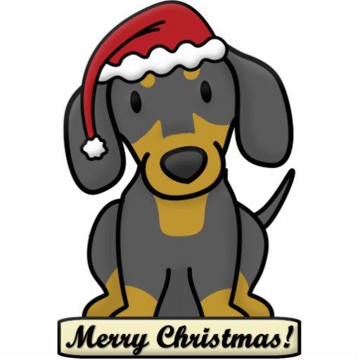 cartoon dachshund christmas ornament