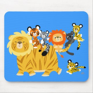 Cartoon Liger and Friends mousepad mousepad