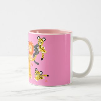 Cartoon Liger and Friends mug mug