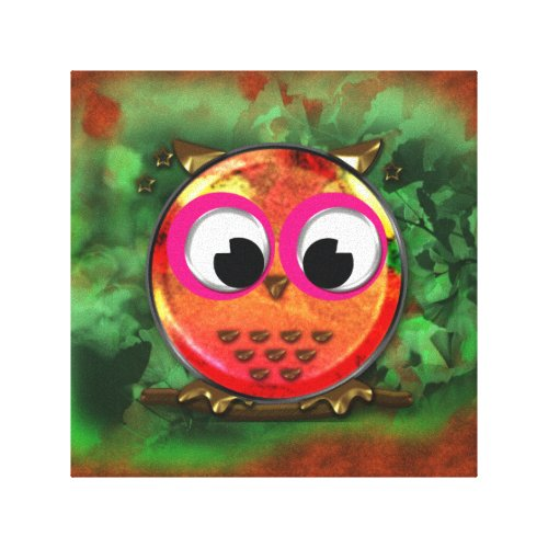 Cartoon Owl Design Canvas Print