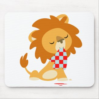 Cartoon Satiated Lion mousepad mousepad