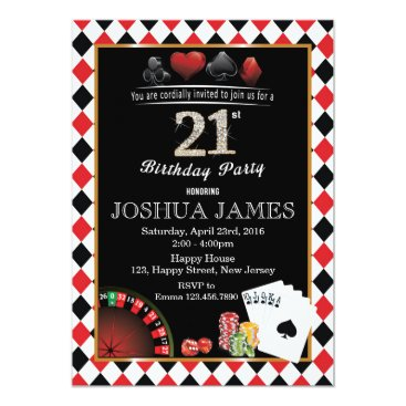 Casino 21st Birthday Invitation