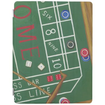 Casino Craps Table with Chips and Dice iPad Smart Cover