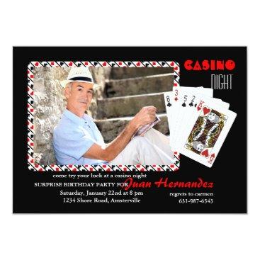 Casino Night Photo Invitation