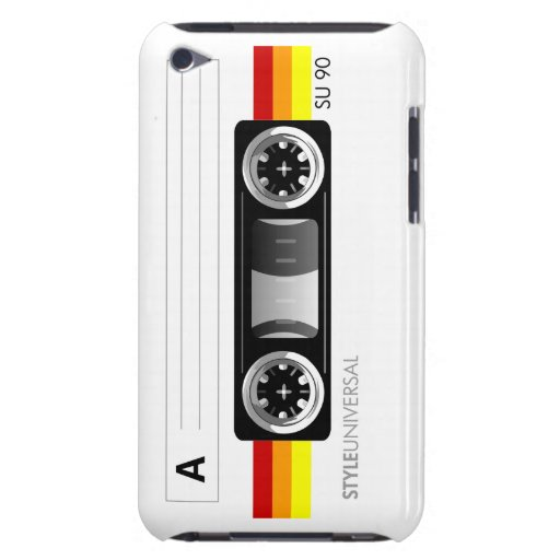 Cassette tape label iPod Touch case